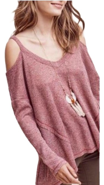 Preload https://img-static.tradesy.com/item/25671941/anthropologie-deletta-millipa-cold-shoulder-red-and-white-sweater-0-1-650-650.jpg