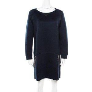Louis Vuitton short dress Navy Blue Leather Detail on Tradesy