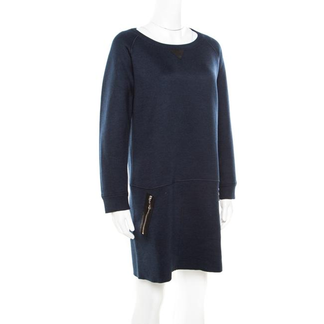 Louis Vuitton short dress Navy Blue Leather Detail on Tradesy Image 2