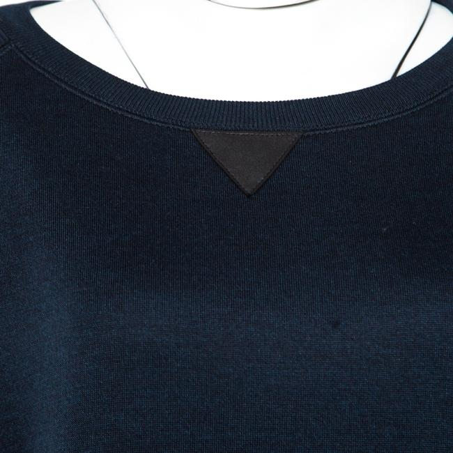 Louis Vuitton short dress Navy Blue Leather Detail on Tradesy Image 4