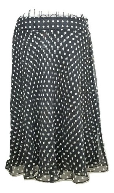Preload https://img-static.tradesy.com/item/25671997/anne-klein-black-white-polka-dot-silk-flared-skirt-size-14-l-34-0-0-650-650.jpg