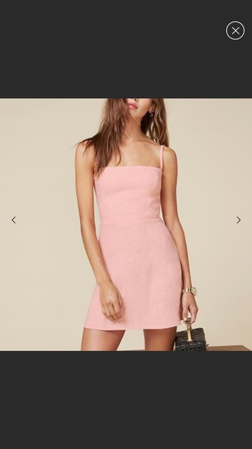Reformation short dress pink on Tradesy Image 1