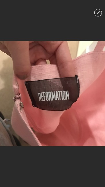 Reformation short dress pink on Tradesy Image 4