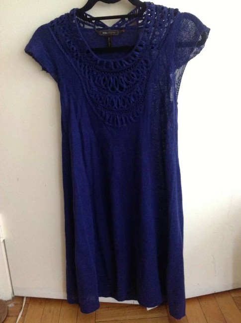 BCBGMAXAZRIA short dress Purple blue on Tradesy