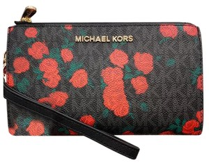 Michael Kors Womens Wallet Signature Wristlet in Black
