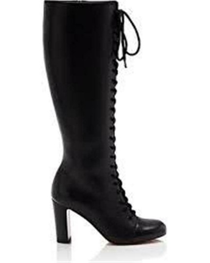Christian Louboutin Lace Up Corset Knee High Black Boots Image 11