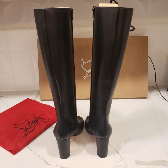 Christian Louboutin Lace Up Corset Knee High Black Boots Image 2