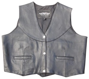 Unik Moto Cafe Racer Western Leather Vest