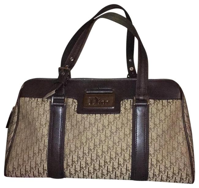 Item - Trotter Oblique Boston Handbag Brown Beige Canvas / Leather Weekend/Travel Bag