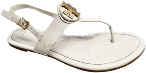 Tory Burch New Ivory Leather Sandals