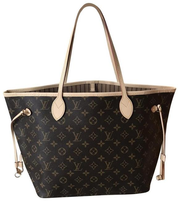 Item - Neverfull Box Mm with Receipt & Multi ( Monogram / Beige) Canvas Tote