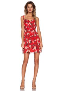 The Kooples short dress Red Floral on Tradesy