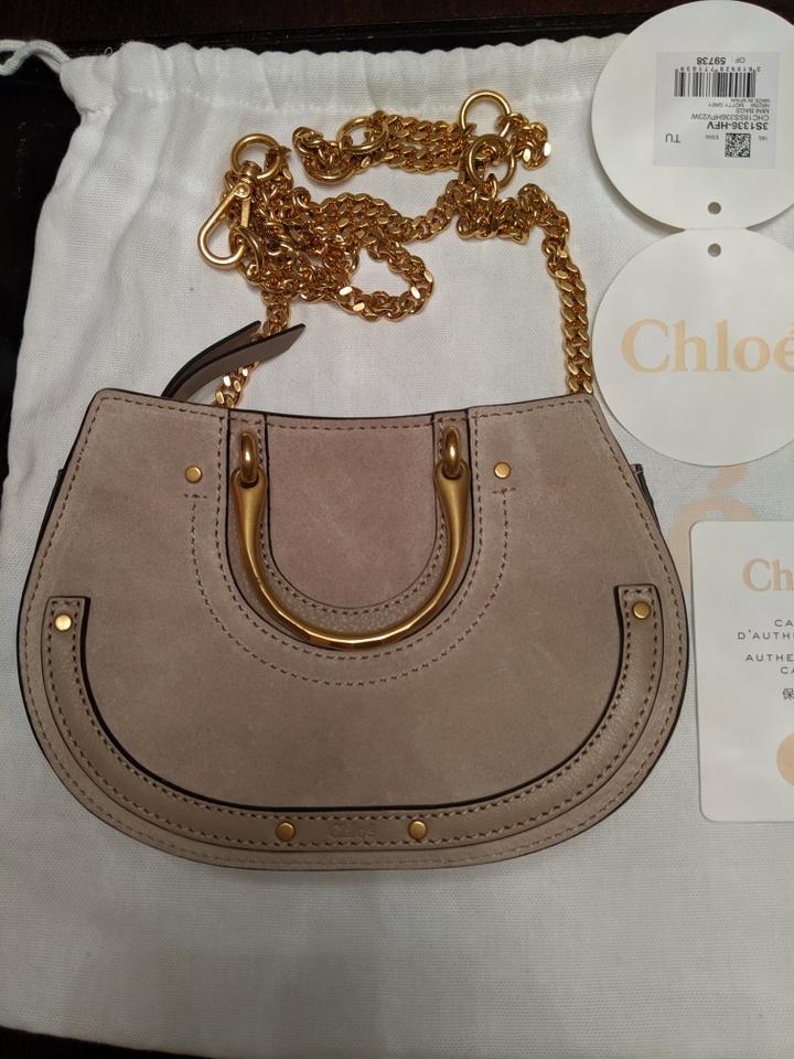 819eade03b Chloé Pixie Mini Convertible Belt Grey Leather and Suede Cross Body Bag 22%  off retail