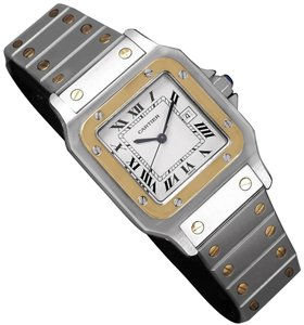 9942a4aa255 Cartier Cartier Mens Santos Two-Tone Automatic Watch - Stainless Steel &  18K G