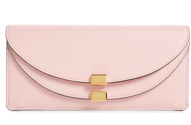 Item - Blush Pink Georgia Slim Continental Leather Wallet