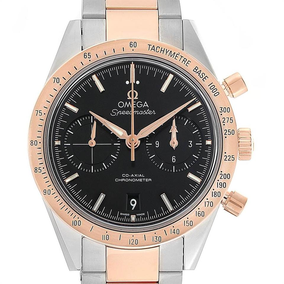 Omega Black Speedmaster 57 Steel Rose Gold Mens 331 20 42 51 01 002