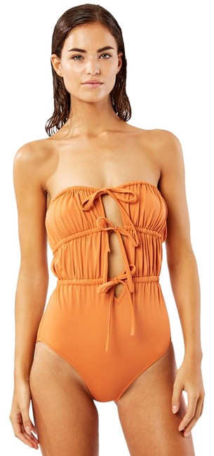Item - Brown The Paula - Bronze One-piece Bathing Suit Size 4 (S)
