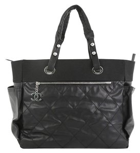 Chanel Canvas Tote in Black