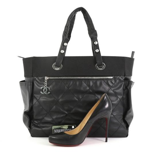 Chanel Canvas Tote in Black Image 1