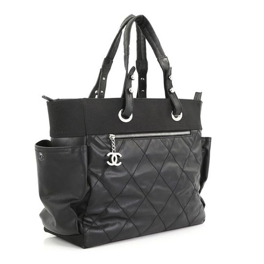 Chanel Canvas Tote in Black Image 2