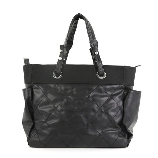 Chanel Canvas Tote in Black Image 3