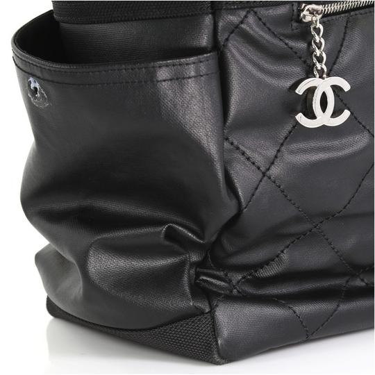 Chanel Canvas Tote in Black Image 9