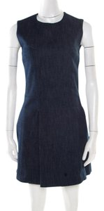 Victoria Beckham short dress Blue Denim Sleeveless on Tradesy