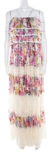 Multicolor Maxi Dress by Dolce&Gabbana Floral Silk