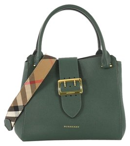 Burberry Buckle Tote in green