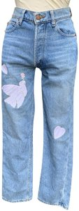 Bliss and Mischief High Rise Straight Leg Jeans-Light Wash