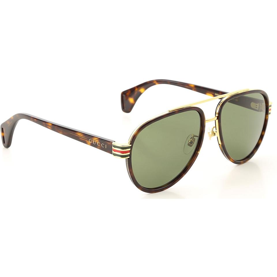 f83405ae206a Gucci Havana / Green Aviator Gg0447s - 004 58mm Sunglasses - Tradesy