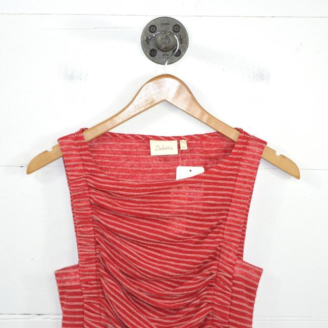 Anthropologie Striped Linen Summer Fall Top RED/ WHITE Image 1