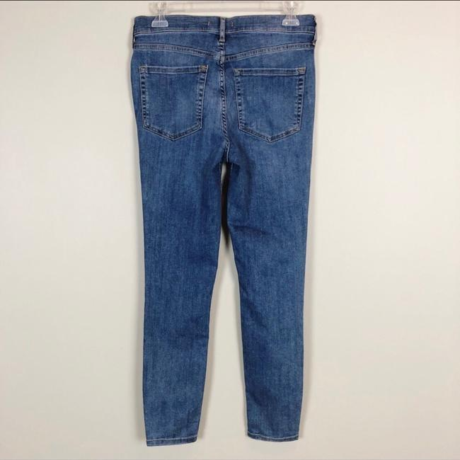 Free People Blue Distressed High-rise Busted Knee Skinnies Skinny Jeans Size 8 (M, 29, 30) Free People Blue Distressed High-rise Busted Knee Skinnies Skinny Jeans Size 8 (M, 29, 30) Image 3