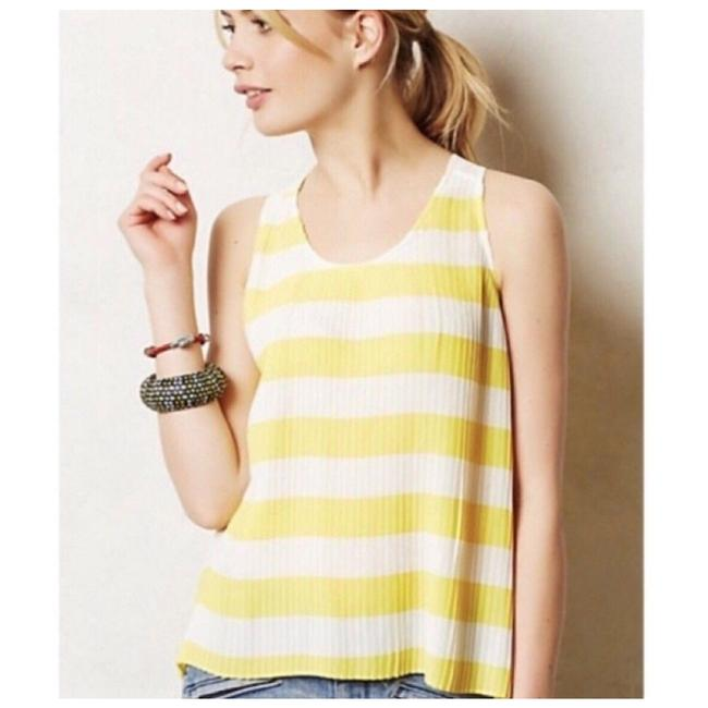Item - Yellow and White Striped Swing Tank Top/Cami Size 10 (M)