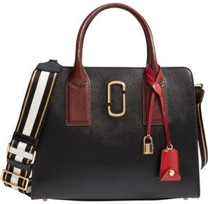 15d2a05d7d231 Marc Jacobs Crosshatched Leather Saffiano Leather Tote Big Shot Double J  Satchel in Red, Black
