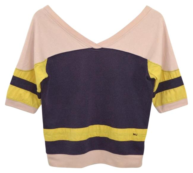 Item - Color Block #175-2 Purple/ Pink/ Yellow Sweater