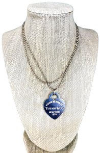 Tiffany & Co. Tiffany & Co. 925 Sterling Silver Beaded Large Heart Tag Necklace SALE