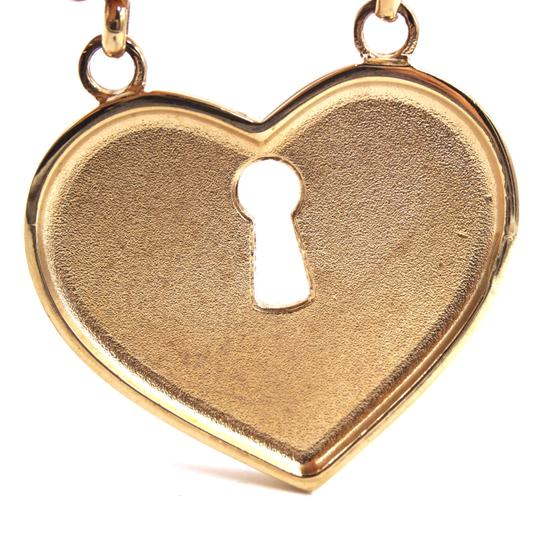 Chanel Ultra Rare XL Key to Heart CC pink crystals gold brooch Image 5