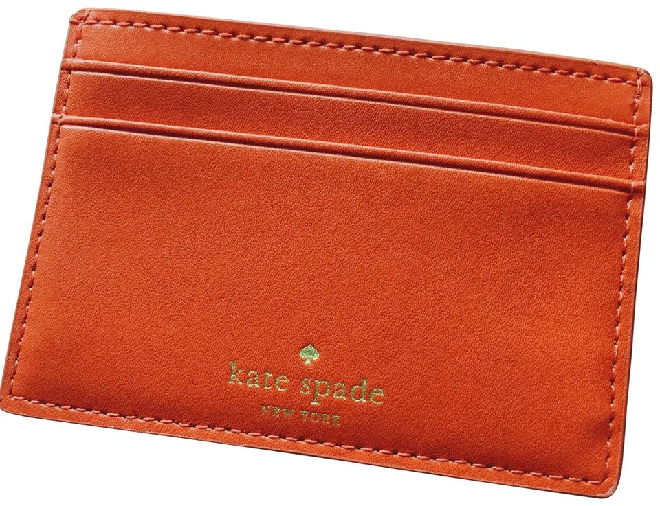 kate spade card holder wallet  Kate Spade Red and Gold Adventure Fund Card Holder Wallet 5% off retail