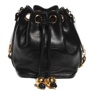 Chanel Vintage Bucket Lambskin Shoulder Bag