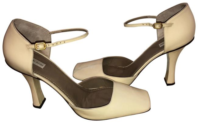 Item - Cream with Accents Of Brown Jane Pump Formal Shoes Size EU 41 (Approx. US 11) Regular (M, B)