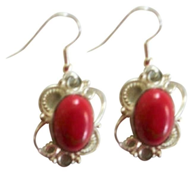 Item - Red Jasper In Sterling Silver Dangle Earrings