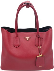 Prada Double Saffiano Leather Satchel Tote