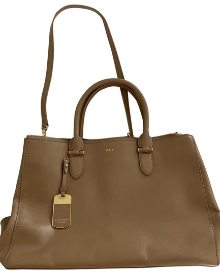 Preload https://img-static.tradesy.com/item/25675359/ralph-lauren-collection-taupe-leather-satchel-0-1-540-540.jpg