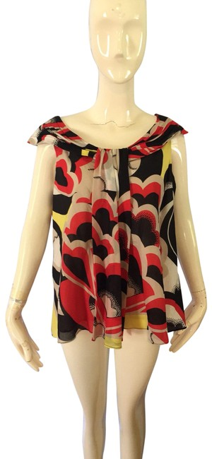 Item - Black and Yellow Blouse Size 8 (M)