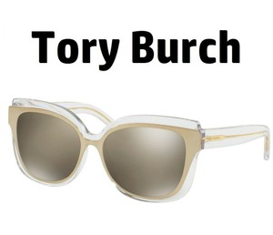 0e11d6f1c683 Tory Burch Sunglasses TY 9046 16025A Crystal Gold Frame w/ Gold Flash Mirror