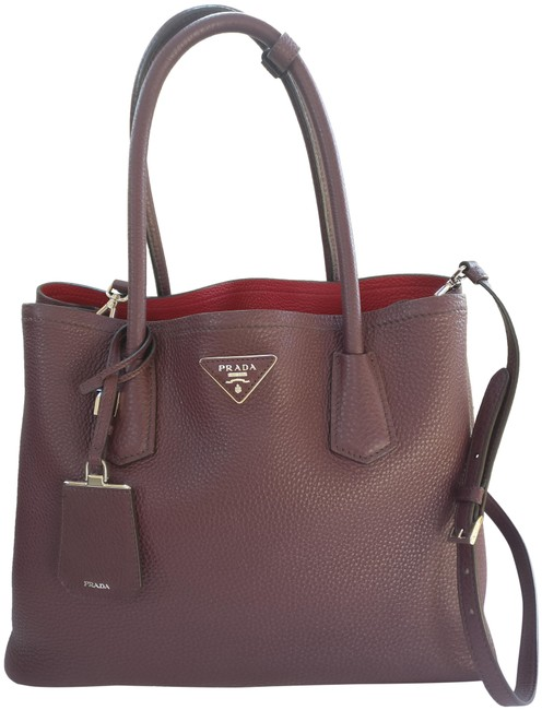 Item - Tote Double Cuir Leather Cross Body Bag