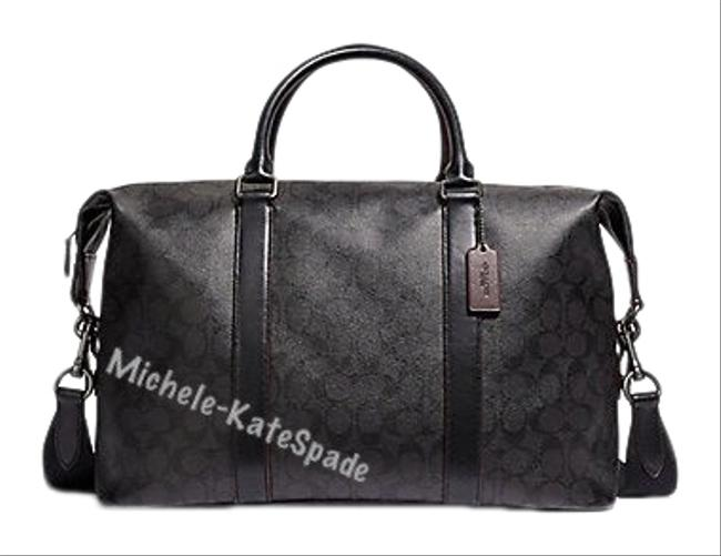 Item - Voyager 52 In Signature F39677 Multi ( Black / Oxblood ) Coated Canvas Weekend/Travel Bag