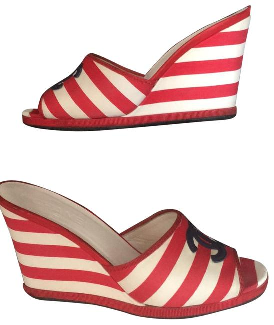 Item - Red White and Blue Usa776 Wedges Size EU 38.5 (Approx. US 8.5) Regular (M, B)