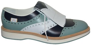 Gucci Mens Golf Golf Oxford White/Green/Blue Formal